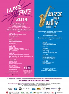 Alive@Five and Jazz Up July Poster