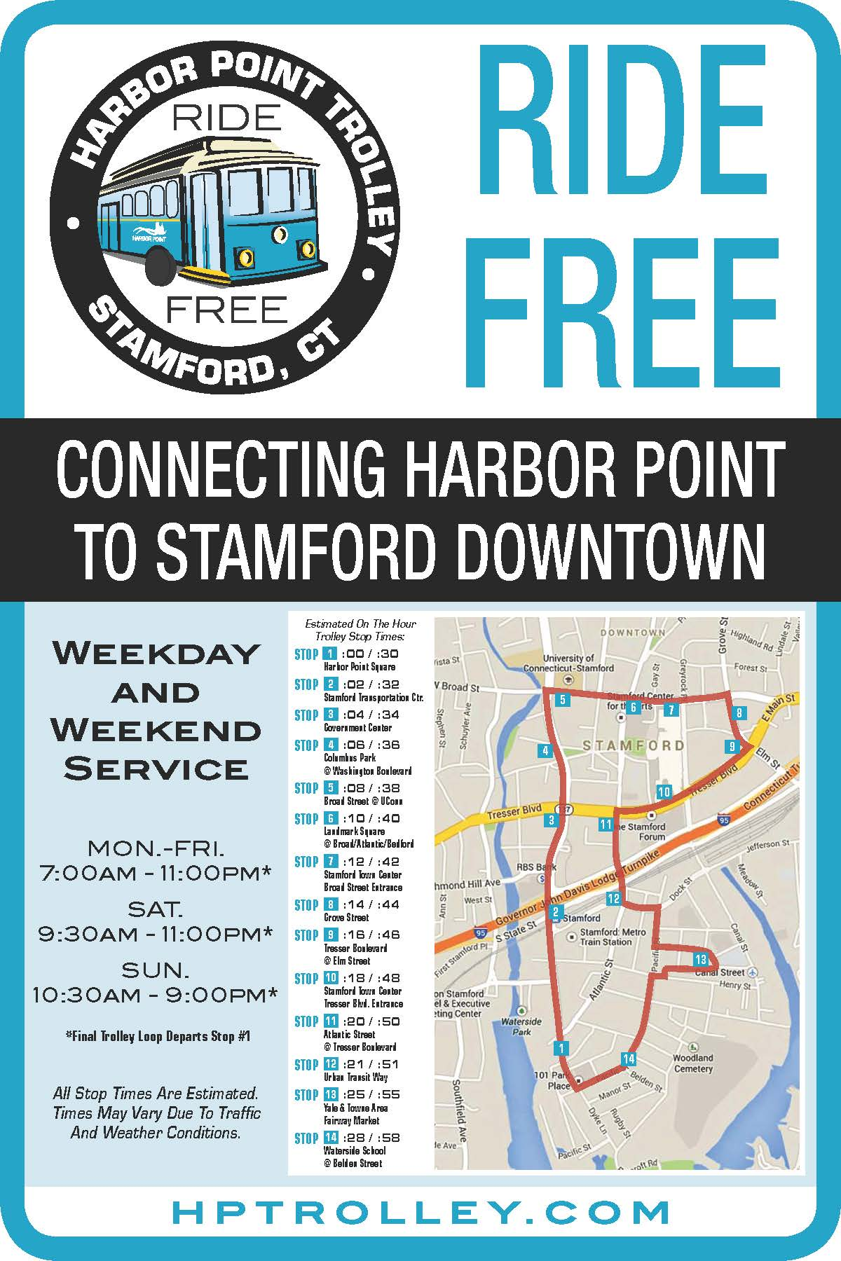 harbor point trolley | stamford downtown - this is the place!