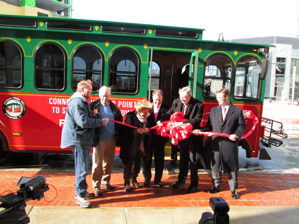 Harbor Point Trolley Ribbon Cutting and Inaugural Ride