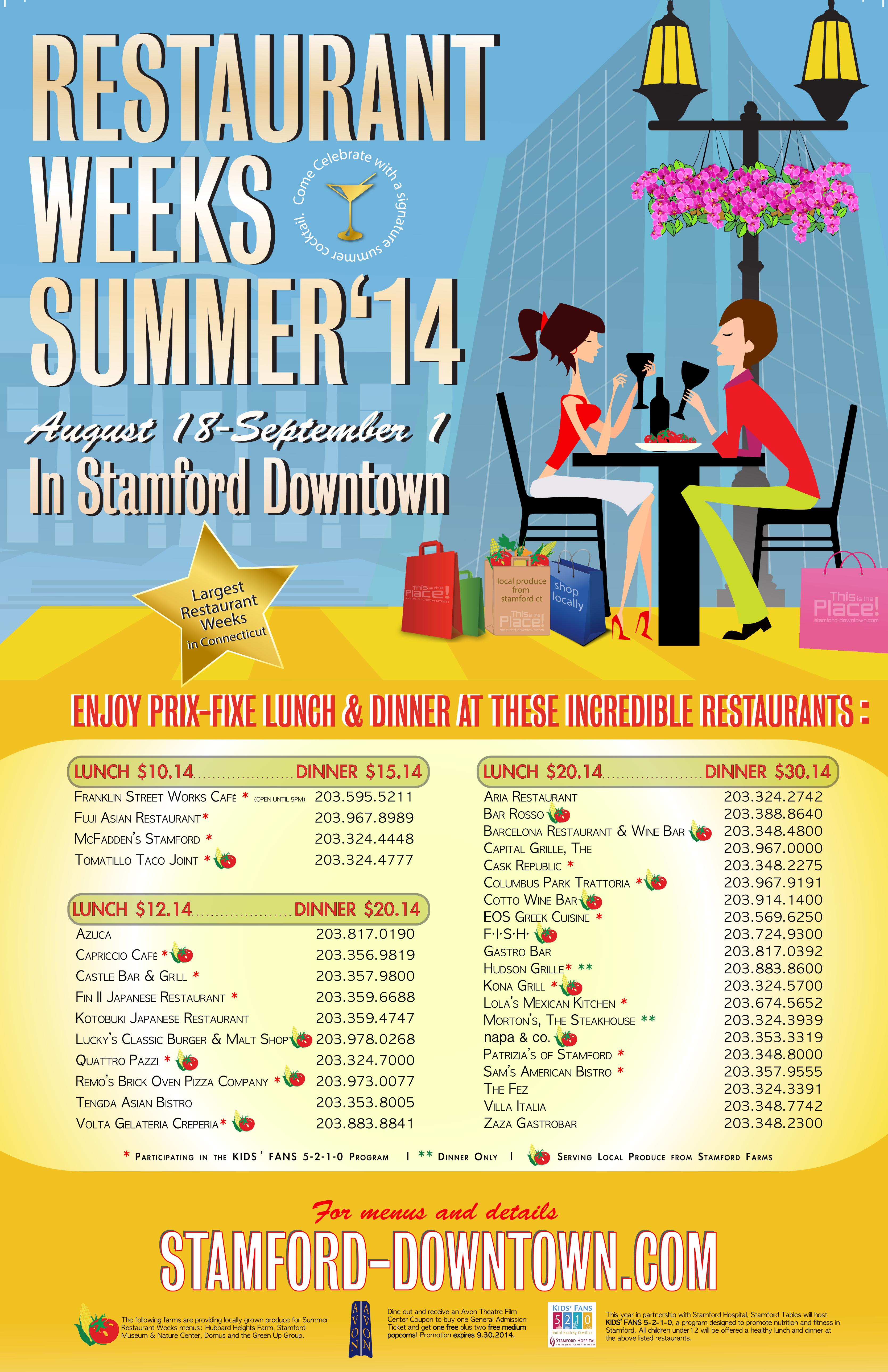 Stamford Tables Presents Summer Restaurant Weeks Stamford Downtown