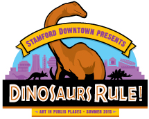 Dinosaurs Rule in Stamford Downtown Outdoor Sculpture