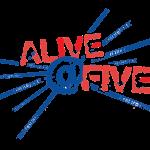 AliveatFiveRedBlueLogo