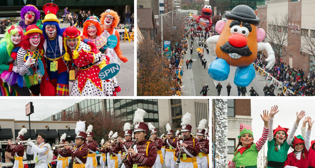 parade, stamford downtown, clowns