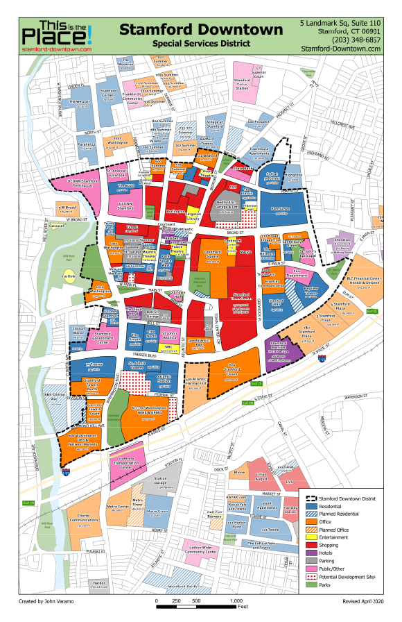 Stamford Downtown District Map 2020